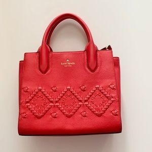 Kate Spade Red Mini Bag with Diamond Detail